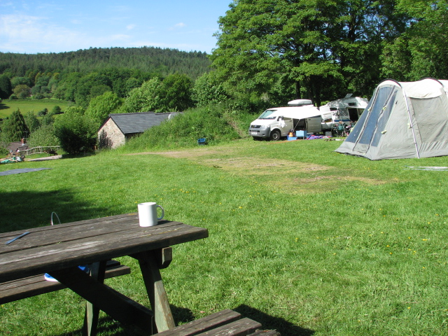 Campsite with lovely views