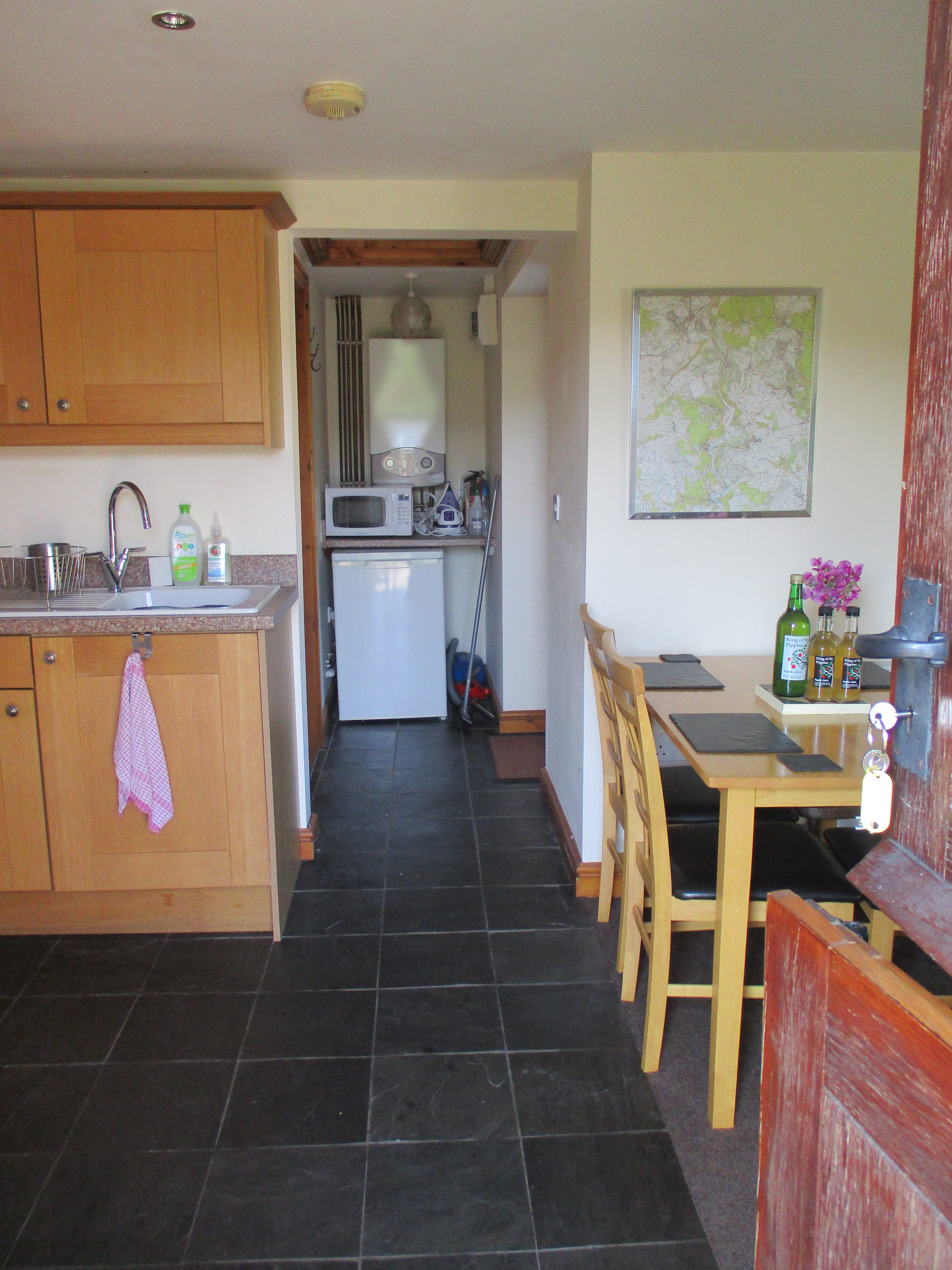 The cottage has a microwave and fridge freezer